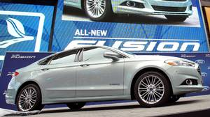 2013 Ford Fusion was launched at an event in Times Square in New York City last September.