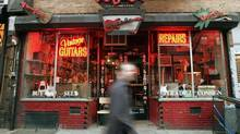 Ludlow Guitars is seen on Ludlow Street on the Lower East Side. (Mario Tama/Getty Images)
