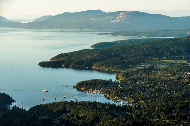 Salt Spring Island is known for a relaxed lifestyle.