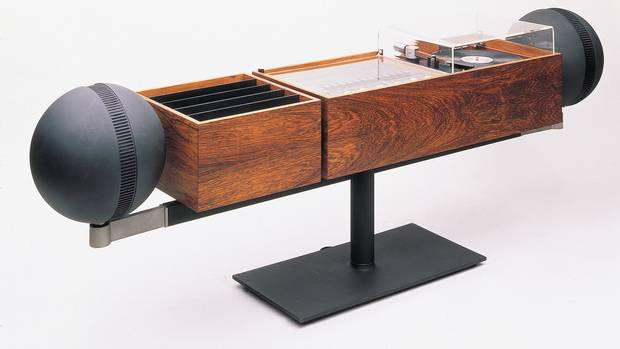 "The G2 Stereo, manufactured by Toronto's Clairtone Sound Corporation, was displayed in something called the ""Canadian Cottage"" display at the XIII Milan Triennale, one of the world's top design show of its time. ""It says something that all the furniture in the cottage had a Scandinavian influence,"" notes Prokopow."