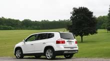 2012 Chevrolet Orlando. (GM/Wieck)