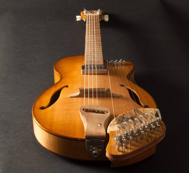 Tony Duggan Smith's guitar, inspired by Arthur Lismer.