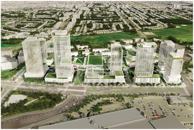 Developers are betting on an industrialized strip of Eglinton Avenue East, which will be served by a new LRT line that's expected to be in service by 2023.