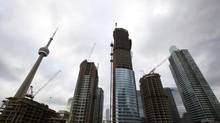 Condominiums in downtown Toronto on Dec. 19, 2012. (Michelle Siu for The Globe and Mail)