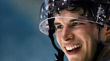 Pittsburgh Penguins Sidney Crosby from Cole Harbour, Nova Scotia smiles during a team training skate in Moncton, New Nrunswick, Monday Sept 18, 2006. (The Canadian Press/ANDRE FORGET/The Canadian Press/ANDRE FORGET)