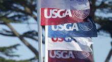 USGA flags (DANNY MOLOSHOK/REUTERS)