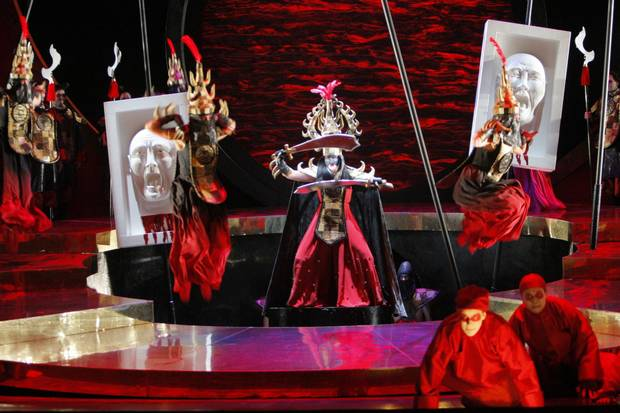 A Minnesota Opera production of Turandot, which the VO will perform Oct. 13, 15, 19 and 21 at the Queen Elizabeth theatre.