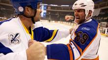 "Seann William Scott (right) in a scene from ""Goon"""