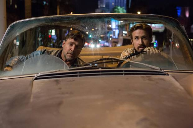 Russell Crow (left) and Ryan Gosling in The Nice Guys.