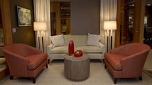 On the set of The Good Wife featuring Mitchell Gold and Bob Williams furnishings (Heather Wines/CBS)
