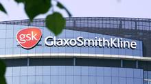 The company logo of GlaxoSmithKline is seen on the headquarters building in London in 2006. (ALASTAIR GRANT/AP/ALASTAIR GRANT/AP)