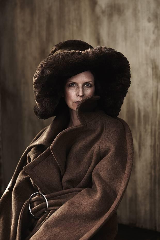 WRKDPT coat, $1,200 through www.wrkdpt.com. A.W.A.K.E. faux fur hat, $365 at Nordstrom (www.nordstrom.com).