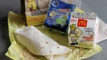 McDonald's cut the salt content of its new chicken wrap Happy Meal option by using sodium-reduced chicken and sauce, and a lighter cheese blend. (Kevin Van Paassen/The Globe and Mail)