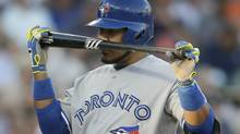Toronto Blue Jays' Edwin Encarnacion pauses between pitches during the fourth inning of a baseball game against the Detroit Tigers in Detroit, Tuesday, June 3, 2014. (Carlos Osorio/AP)