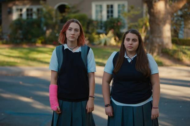 Saoirse Ronan (left) and Beanie Feldstein in Lady Bird.