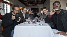 "(From left) Ben Stiller, Matthew Broderick, Michael Pena, Casey Affleck and Eddie Murphy in a scene from ""Tower Heist"" (David Lee)"