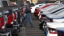 Auto sales jumped 4 per cent last month in Canada. (David Zalubowski/AP)