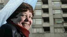 Libby Davies, shown in Vancouver's Downtown Eastside in 2006, will not run to replace Jack Layton as NDP leader. (Lyle Stafford/Lyle Stafford for The Globe and Mail)