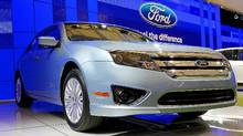 Ford Fusion Hybrid is displayed at Auto Shanghai 2011 in April. (Ford Ford)