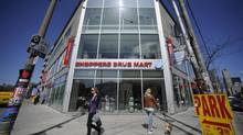A Shoppers Drug Mart megastore at the corner of Queen St. West and Beverley St..in Toronto. (Fred Lum/The Globe and Mail)