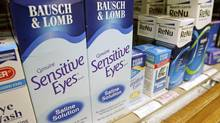Bausch & Lomb products are seen on the shelf in a neighbourhood pharmacy in Boston, in this file photo. (Michael Dwyer/AP)