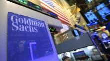 A Goldman post on the floor of the New York Stock Exchange. The problem for Goldman is that it's hard to question the motives of Judge Leo Strine, whio was harshly critical of the company in a Feb. 29 ruling. (Brendan McDermid / Reuters/Brendan McDermid / Reuters)