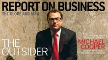 Michael Cooper, vice chair and CEO of Dundee REIT, on the cover of the January 2013 Report on Business Magazine (Simon Willms)
