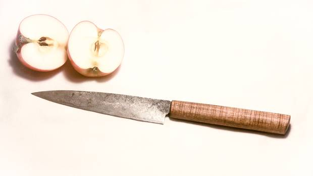 A knife from Grindhouse Blade Care and Ware