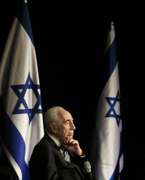 Shimon Peres on July 6, 2014.
