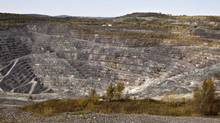The Jeffrey open-pit asbestos mine is shown on October 7, 2011, in Asbestos, Que. (Jacques Boissinot/THE CANADIAN PRESS)