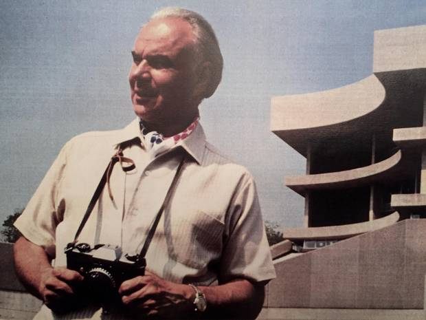 Architect Eugene Janiss pictured in a family photo.