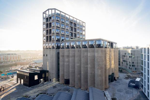 The Zeitz Museum of Contemporary Art Africa in Cape Town, the first of its kind on the continent, was created out of old corn silos on the city's waterfront.