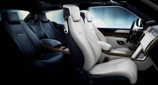 The SV Coupe includes quilted leather seats and a panoramic sunroof.