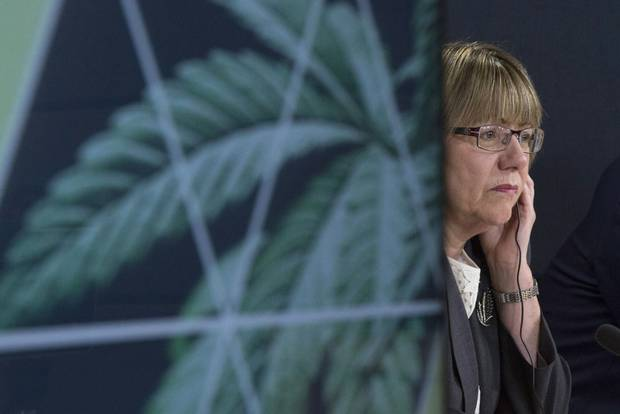 Leader of the Federal task force on marijuana Anne McLellan listens to a question during a news conference in Ottawa, Tues. Dec. 13, 2016.