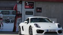 The new Cayman 'is much sportier' than its Boxster stable-mate, Porsche executives insist. (Dan Proudfoot for the Globe and Mail)