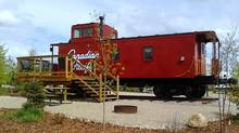 The caboose on Jason Thornhill's property in Mossleigh, Alta., is no ordinary railcar. The former Canadian Pacific caboose serves as a cabin that can be rented by the night or week. (THE CANADIAN PRESS/THE CANADIAN PRESS)