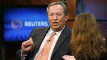 Faced with a lot of opposition, Lawrence Summers withdrew from the race to be the next chairman of the U.S. Federal Reserve Board. (MOLLY RILEY/REUTERS)