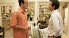 "This undated publicity photo released by Netflix shows Will Arnett, left, and Jason Bateman in a scene from ""Arrested Development,"" premiering May 26, 2013 on Netflix. (AP Photo/Netflix, Michael Yarish) (Michael Yarish/AP)"
