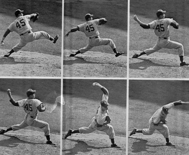 This is an October 4, 1955 file photo of Brooklyn Dodgers' left-hander Johnny Podres in a camera sequence. Podres, who pitched the Brooklyn Dodgers to their only World Series title in 1955, died Sunday, Jan. 13, 2008, at the age of 75.