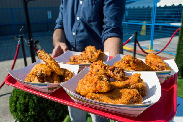 Fried chicken at the Halal Food Fest.