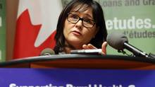 Health Minister Leona Aglukkaq holds a news conference at the Rideau Valley Health Centre Friday, Dec. 28, 2012. (FRED CHARTRAND/THE CANADIAN PRESS)