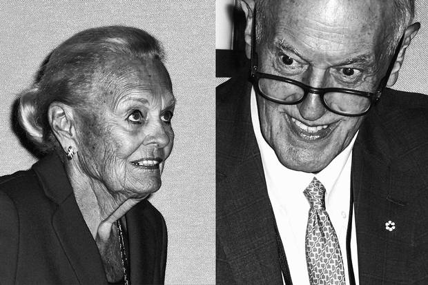 "Phil Lind (above) worked with founder Ted Rogers to grow the company from its early days. He says Laurence ""treated employees in a condescending and arrogant way."" Loretta Rogers (below) married Ted in 1963. Now widowed, she still sits on the Rogers board."