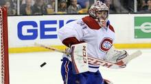 Montreal Canadiens goalie Carey Price makes a save during the second period against the Boston Bruins in Game 3 of the second round of the 2014 Stanley Cup Playoffs at TD Banknorth Garden in Boston on May 3. (Bob DeChiara/USA Today Sports)