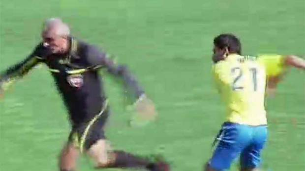 SOCCER Soccer referee attacked during Lebanese second ...