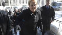 Quebec Premier Pauline Marois arrives in Quebec City on March 5, 2014. (RYAN REMIORZ/THE CANADIAN PRESS)