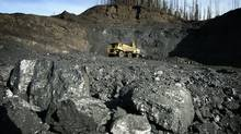 The Pine Valley open pit coal mine in the Peace River District of northeast British Columbia, near Tumbler Ridge. (John Lehmann/The Globe and Mail)