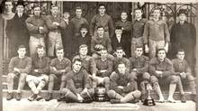 The University of Toronto Seniors, who won the first Grey Cup in 1909, are shown in a 1909 file photo. (Canadian Football Hall of Fame Archives/THE CANADIAN PRESS)