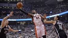 Patrick Patterson, 54, re-signed with the Toronto Raptors for a reported $18-million (U.S.) over three year. (Frank Gunn/The Canadian Press)