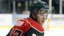 Jonathan Drouin of the Halifax MooseHeads skates during a game in Shawinigan, Quebec, February 27, 2013. (Christinne Muschi For The Globe and Mail)
