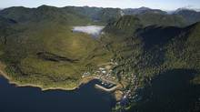 Hartley Bay, B.C., is home to the Gitga'at First Nation, opponents of the Enbridge Northern Gateway pipeline. (John Lehmann/The Globe and Mail)